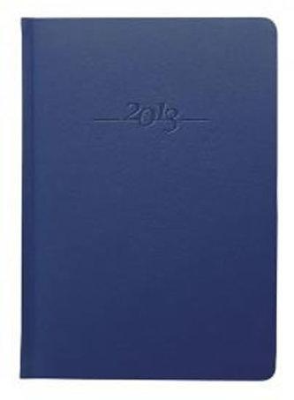 Diář kožený 2013 - CARUS modrý - týdenní A5