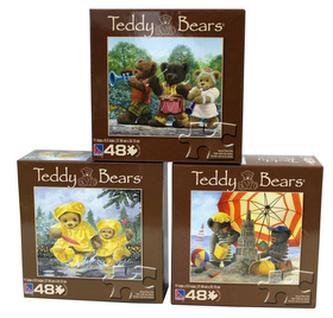 Puzzle dětské 48 dílků, Medvídek