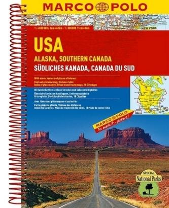 USA ,Alaska,Southern Canada 1:4M/1:800 000 MD