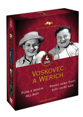 Voskovec a Werich - 4DVD - neuveden
