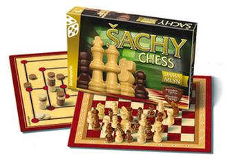 Společenská hra - Šachy,Dáma,Mlýn - neuveden