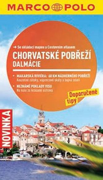Chorvatské pobřeží, Dalmácie - Průvodce se skládací mapou - neuveden