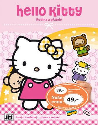 Hello Kitty-Rodina-Samolepková knížka - neuveden