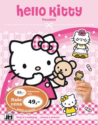Hello Kitty-Povolání-Samolepková knížka - neuveden
