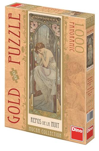 Alfons Mucha - Odpočinek noci - puzzle 1000 D - neuveden