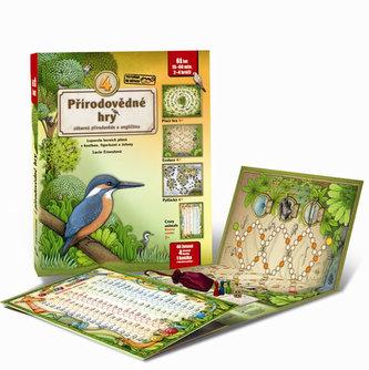4 přírodovědné hry - Leporelo her s kostkou, figurkami a žetony, pro zábavné učení přírodopisu a angličtiny - Ernestová Lucie