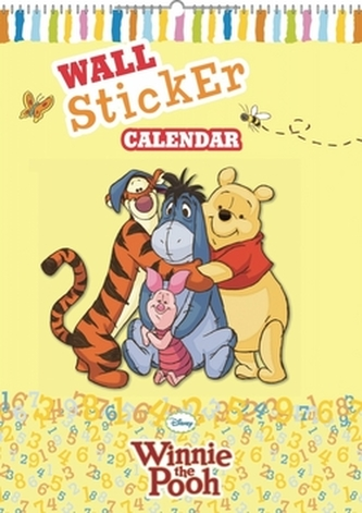 Medvídek Pú se samolepkami na zeď - nástěnný kalendář - Walt Disney