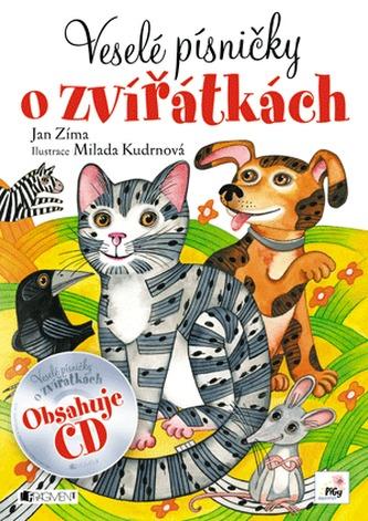 Veselé písničky o zvířátkách + CD - Zíma Jan