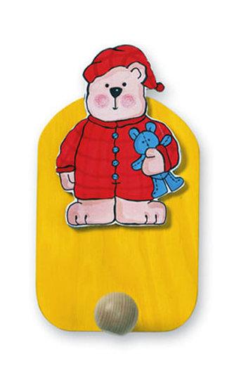 Věšák medvěd v pyžamu - 1 háček - neuveden