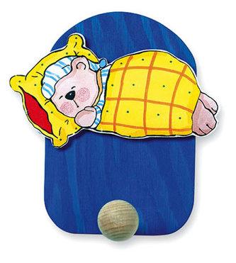Věšák spící medvěd - 1 háček - neuveden