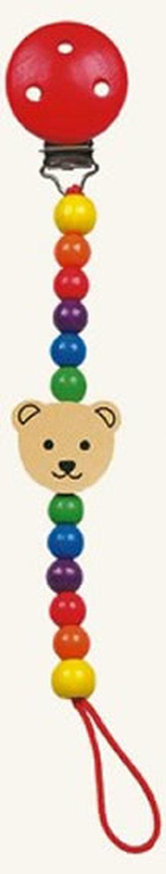 Šnůra na dudlík - medvěd - Pippa - neuveden