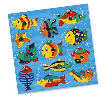 Rybičky ve vodě, magnetická hra, s udičkou - neuveden