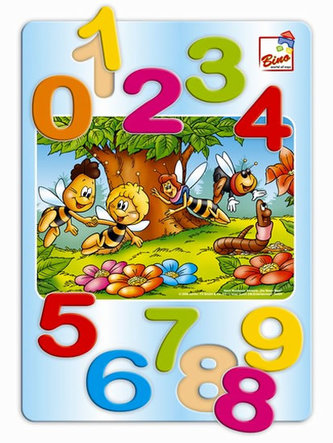 Včelka Mája - puzzle čísla - neuveden