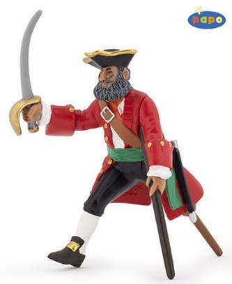 Kapitán s dřevěnou nohou červený