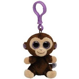 Plyš očka přívěšek opice tmavě hnědá