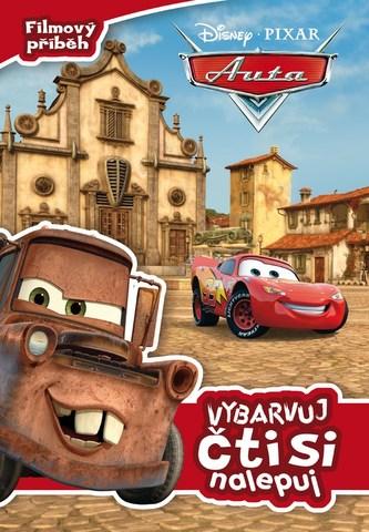 Auta - Filmový příběh: vybarvuj, čti si, nalepuj - Walt Disney