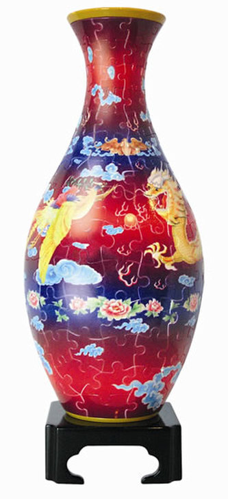 Plastic Puzzle Váza 160 Tančící drak, létající Fénix - neuveden