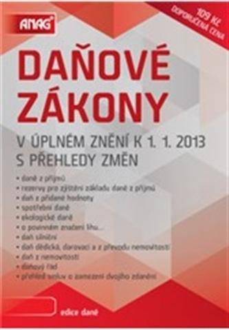Daňové zákony v úplném znění k 1. 1. 2013