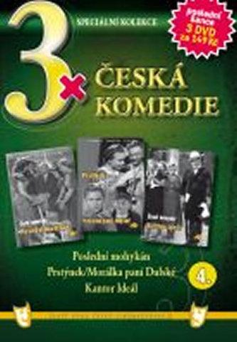 3x DVD - Česká komedie 4. - neuveden