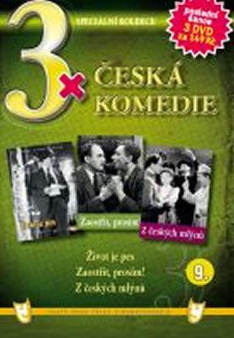 3x DVD - Česká komedie 9. - neuveden