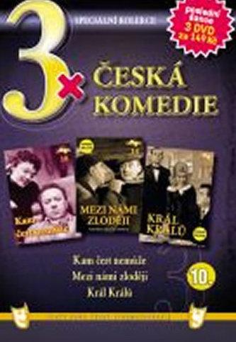 3x DVD - Česká komedie 10. - neuveden