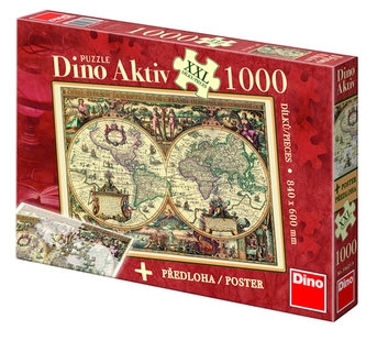 Historická Mapa - puzzle XXL 500 dílků - neuveden