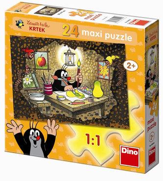 Krteček maluje - Maxi puzzle 24 dílků - neuveden