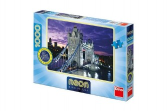 Tower Bridge - puzzle neon 1000 dílků - neuveden