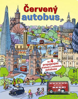 Červený autobus + model autobusu - neuveden