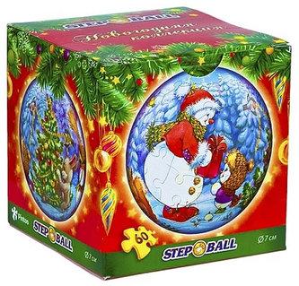 Plastic Puzzle Koule 60 Vánoční kolekce - Sněhulák - neuveden