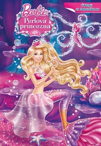 Barbie a Perlová princezna Čtení se samolepkami