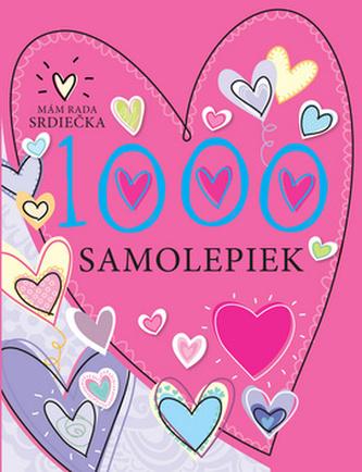 1000 samolepiek Mám rada srdiečka