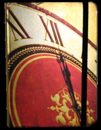 Zápisník s gumičkou 130x180 mm hodiny