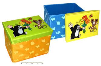 Krtek - Skládací sedátko/box na hračky 40 cm - neuveden