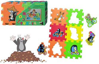 Pěnové puzzle 15x15 6ks, 3 motivy Krtek - neuveden