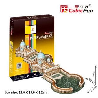 Puzzle 3D Bazilika sv. Petra - 56 dílků - neuveden