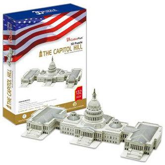 Puzzle 3D Capitol Hill - 132 dílků - neuveden