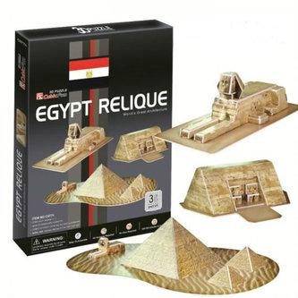 Puzzle 3D Egyptské památky - 30 dílků - neuveden
