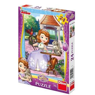 Sofia a zvířátka - puzzle 24 dílků - neuveden