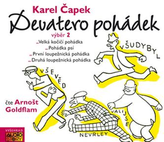 Devatero pohádek výběr 2 - CDmp3 (Čte Arnošt Goldflam) - Čapek Karel