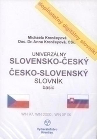 CD-ROM univerzálny slovensko-český česko-slovenský slovník pre prekladatelov - Krenčeyová, Anna; Krenčeyová, Michaela