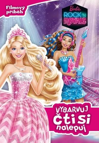 Barbie Rock ´n Royals Vybarvuj čti si nalepuj