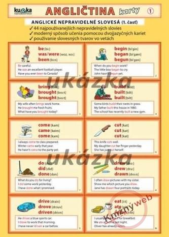 Angličtina karty 1 - nepravidelné slovesá - Kupka a kol. Petr