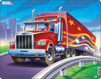 Puzzle MAXI - Americký truck - kamion/25 dílků - neuveden