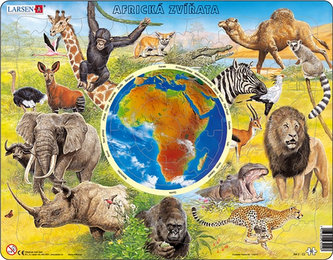 Puzzle MAXI - Zvířata Afriky/90 dílků - neuveden