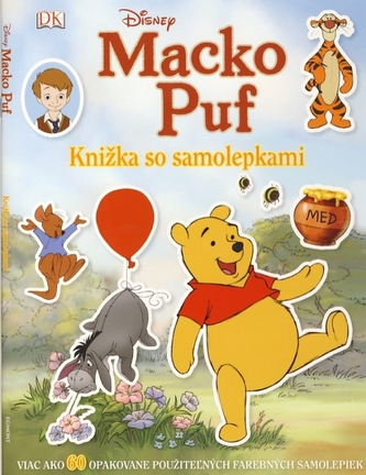 Macko Puf - Knižka so samolepkami - Disney