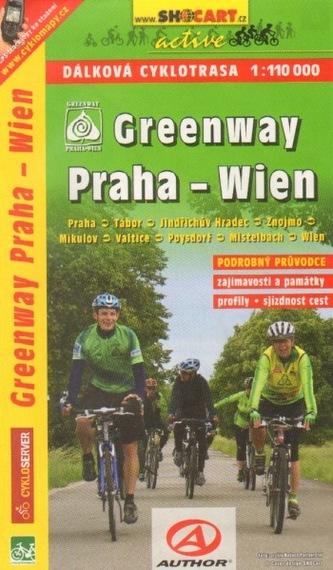 Cykloprůvodce Greenway Praha - Wien 1:110 000 - SHOCart