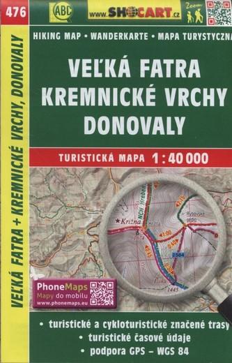 Veľká Fatra, Kremnické vrchy, Donovaly 1:40 000 - SHOCart
