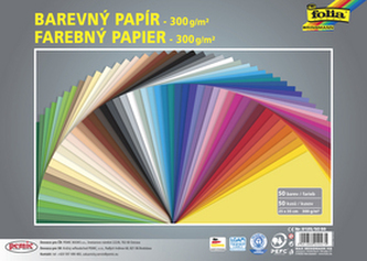 Barevný papír tvrdý 300g/m2