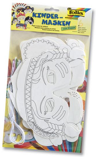 Dětské masky z papíru 6 kusů
